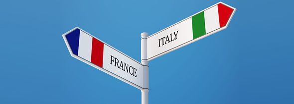 A glimpse of Italy and France
